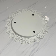 Load image into Gallery viewer, White Lace Charger Plates