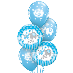 Baby Boy Balloon Bunch