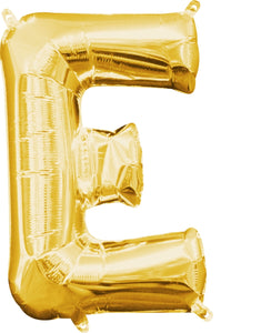 Gold Alphabet Balloon