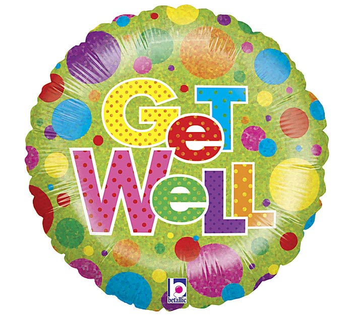 Holographic Get Well Balloon