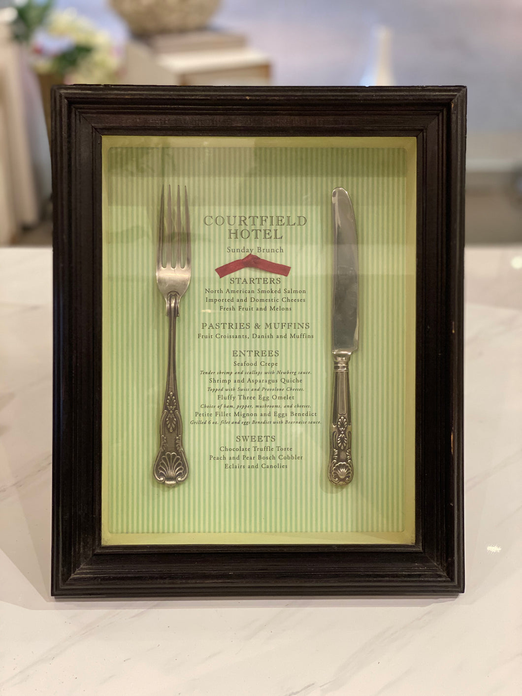 Vintage Fork and Knife Shadow Box