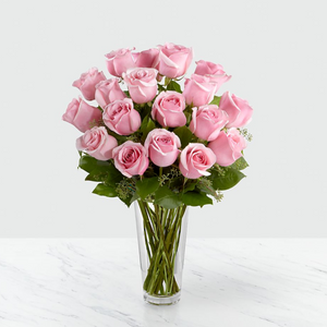 Long Stem Pink Rose Arrangement