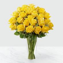 Load image into Gallery viewer, Long Stem Yellow Rose Arrangement