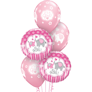 Baby Girl Balloon Bunch