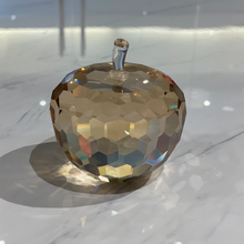 Load image into Gallery viewer, Amber Shimmer Crystal Apple