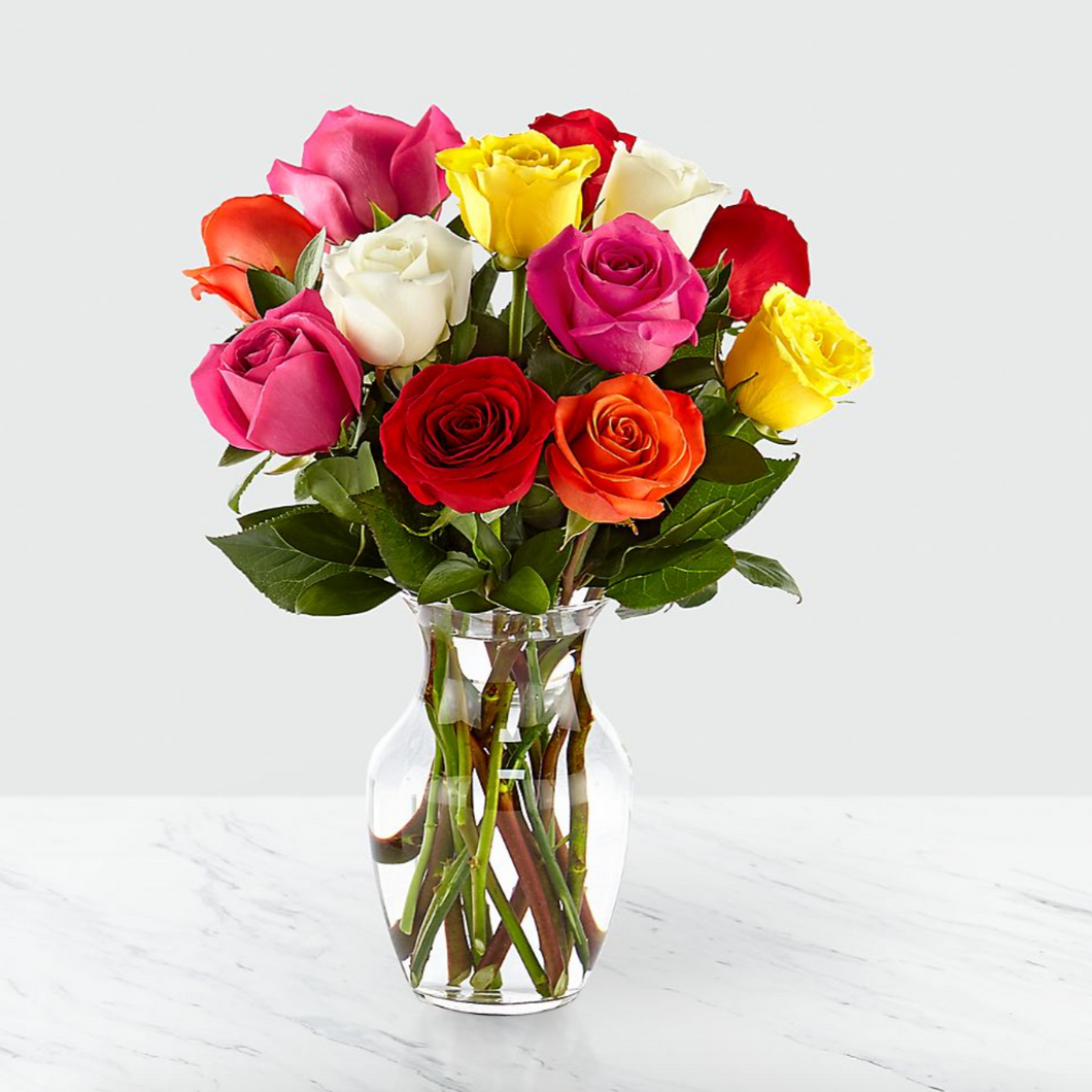 Assorted Rose Arrangement