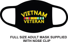 Load image into Gallery viewer, vietnam vet face mask  2-pc set