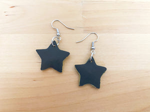 Dark Star Statement Earrings- Clay Jewelry - Polymer Clay Earring - Unique Earrings - Boho Earrings - Handmade Earrings - Fall Earrings - Halloween Earrings - Dangling Earrings