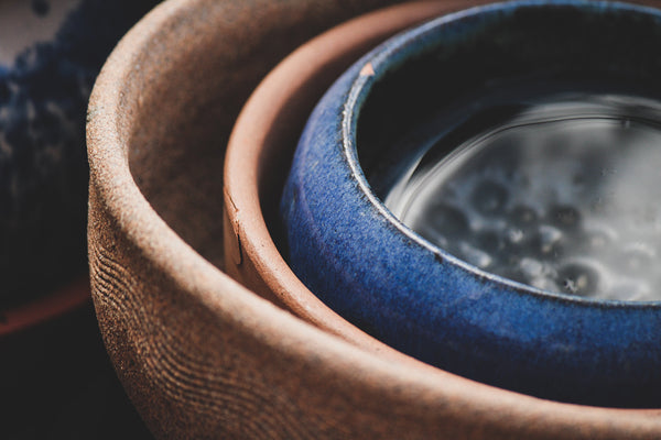 Ceramic Bowls with water inside