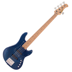 Cort GB75JJ 5-String Electric Bass Guitar (Aqua Blue)