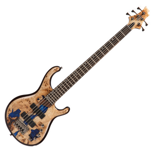 Cort PERSONA5-BLRB 5-String Electric Bass Guitar (Blue Resin Burl)