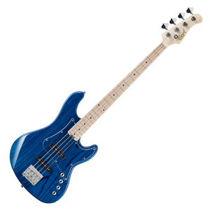 Cort GB74JJ Electric Bass Guitar (Aqua Blue)