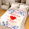 I Am Happiest When I Am Right Next to You Personalized Blanket