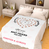 Forever and Always  Best Friend For Life Personalized Blanket
