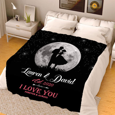 Forever & Always  I Love You Personalized Blanket