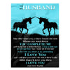 To My Husband I Love You  Personalized Blanket