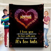 I Love You In Love With You Personalized Blanket