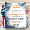 To My Wonderful Husband I love You  Personalized Blanket