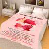 To My Husband I Had You  Personalized Blanket