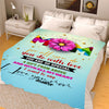 To My Mom I Love You  Personalized Blanket