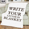 Write Your Letter  Personalized Blanket