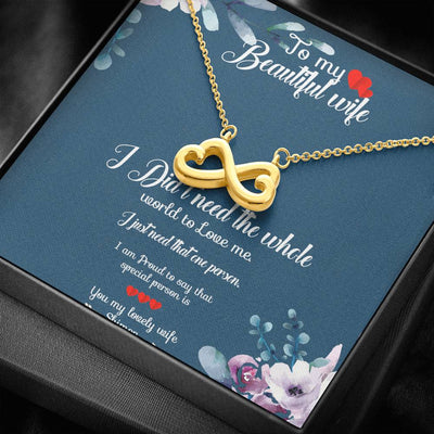 To My Beautiful Wife My Angel Heart Necklace