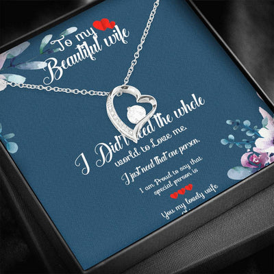 To My Wife Love Necklace