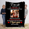 To My Wife I  Love You Forever & Always   Personalized Blanket