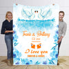 Forever & Always I Love You Swan Personalized Blanket