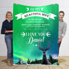 To My Beautiful Wife   I Love You Personalized Blanket