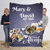 Forever & Always  Custom Photo Personalized Blanket