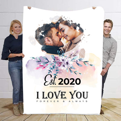 I Love You  Personalized Blanket