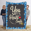 To My Wife You Make My Heart Smile Personalized Blanket