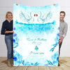 To  My Wife Lovely Premium Swan Personalized Blanket