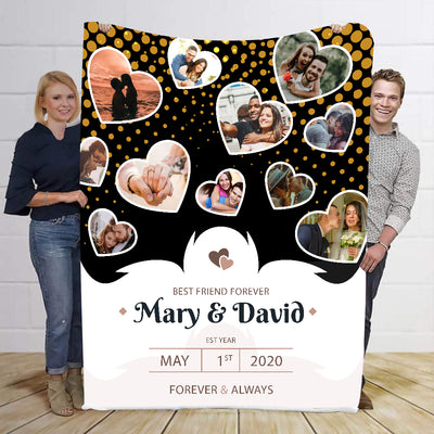 Best Friend Forever Forever & Always Personalized Blanket