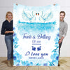Personalized Blanket For Love Birds