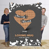 Loving Hug For My Wife Personalized Blanket