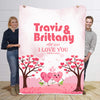 Forever And Always Custom Personalized  Blanket