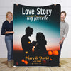 Love Story Is Beautiful   I Love You Personalized Blanket