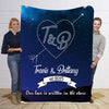 Our Love Written In Stars  Personalized Blanket