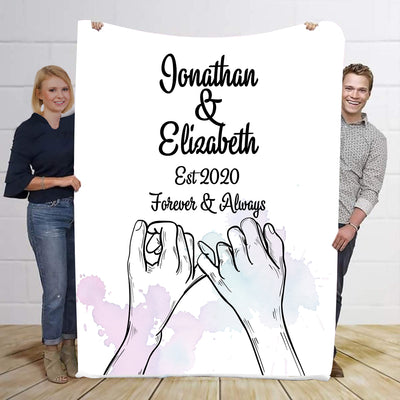 Forever & Always Promise Personalized Blanket