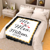 Mr & Mrs Premium Personalized Blanket