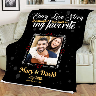Every Love Story Is Beautiful Special Personalized Blanket