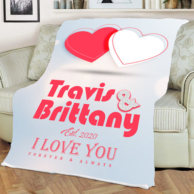 Always & Forever I Love You  Personalized Blanket
