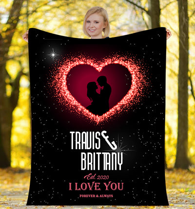 Forever & Always I Love You  - Personalized Blanket