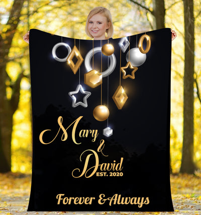 Forever & Always  Personalized Blanket