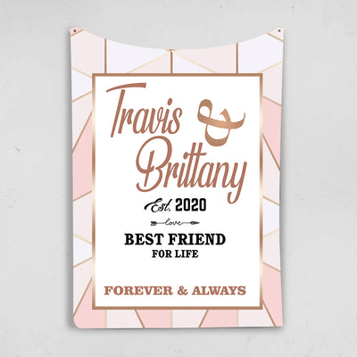Best Friend For Life  Personalized Blanket