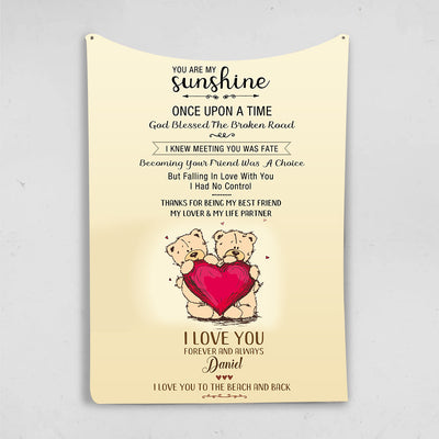 You Are My Sunshine Forever & Always  I Love You Personalized Blanket