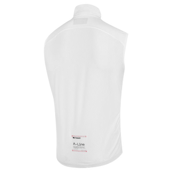 Mens White A-Line Gilet main