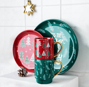 Christmas Plates and Mugs Set